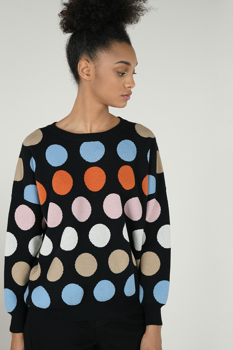 Large polka dot jumper