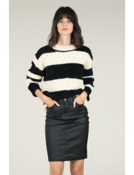 Coated stretch skirt