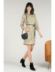 Shift print dress