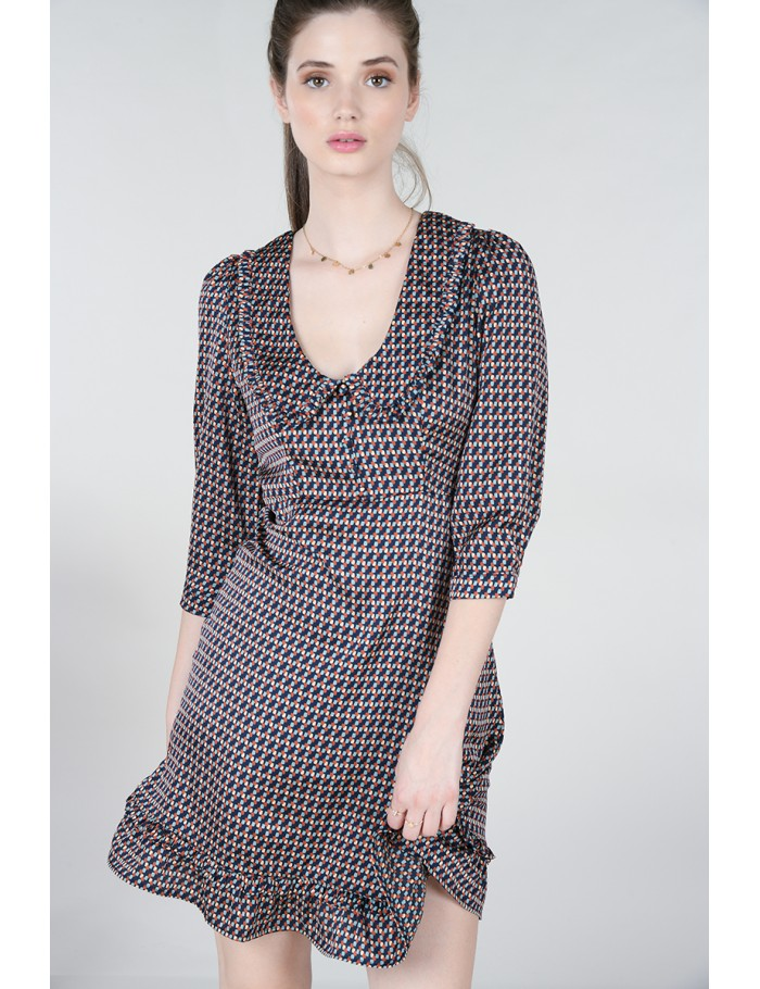 Robe large col Claudine