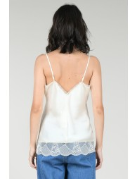 Satin camisole with lace