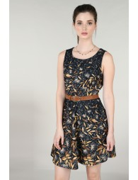 Wild oats print sheath dress