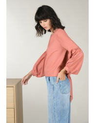 Knotted back blouse