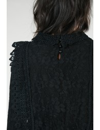 Blouse sweat en dentelle