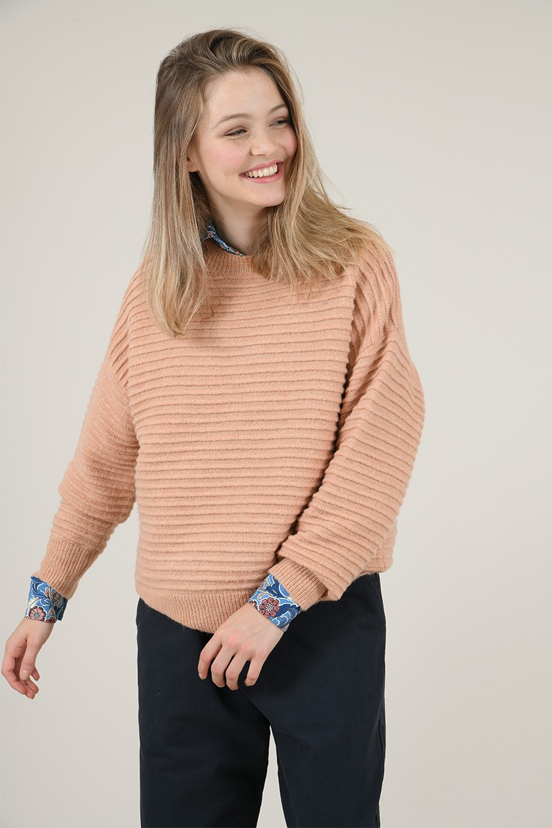 Pull maille en relief