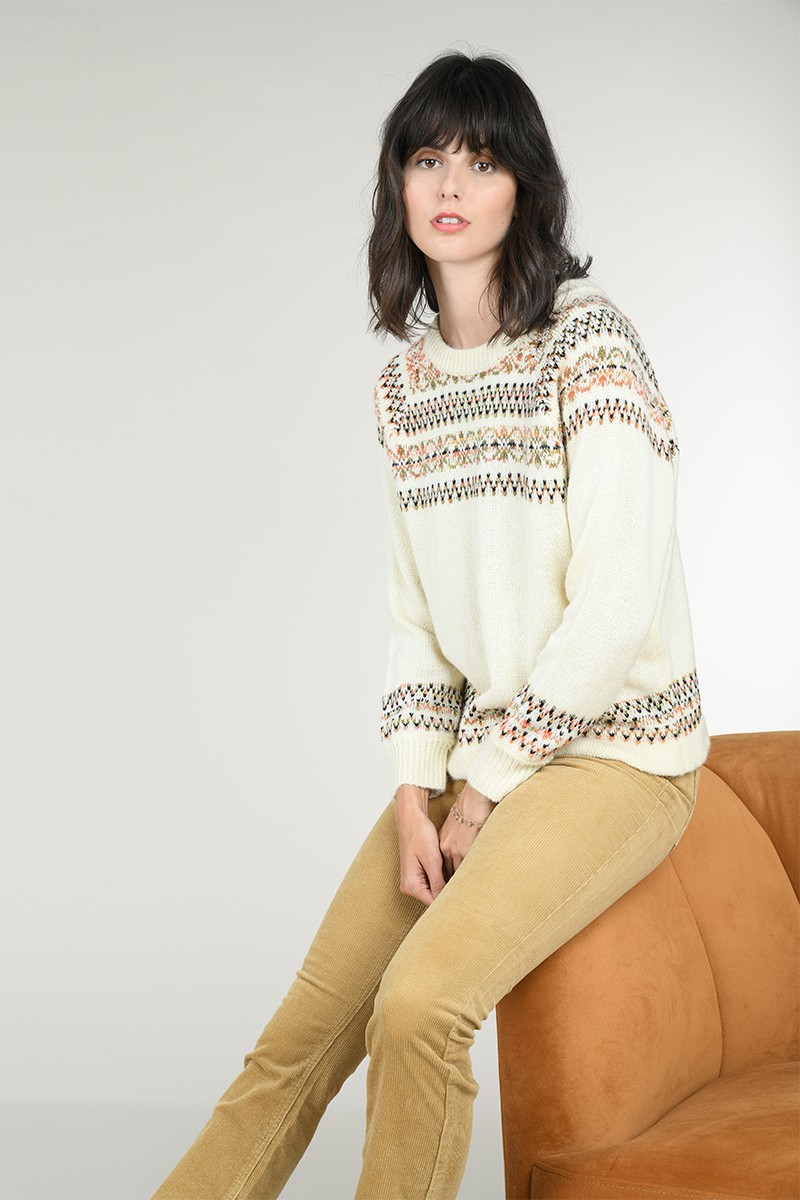 Fair isle detail sweater