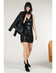 Robe sequin col V