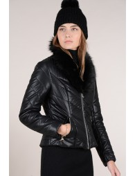 Quilted faux leather perfecto