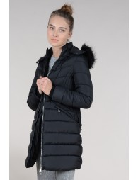 Long hooded jacket