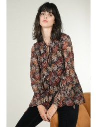 Fluid blouse with flowers print