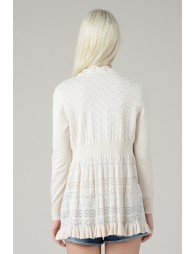 Gypsy open front knitted cardigan