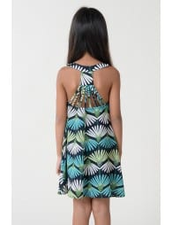 Fancy back with laces dress