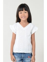 Top in english lace