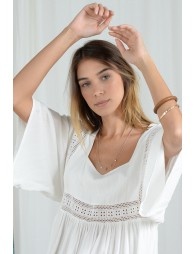 Batwing sleeves blouse