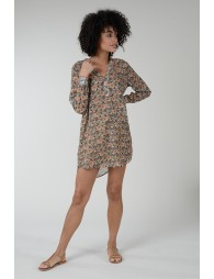 Loose tunic with indian cashmere print