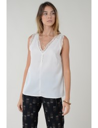 V-neck top front and back