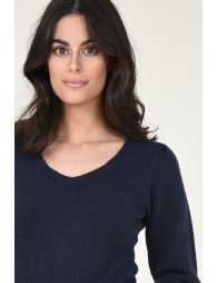 Cropped ballon sleeves jumper