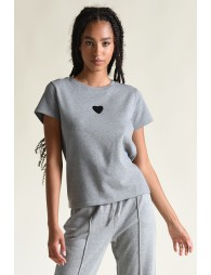 Front baby heart pattern Tee