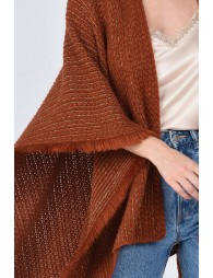 Poncho maille mousse