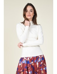Pull fin col montant
