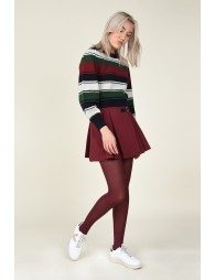 Balloon sleeve cropped jumper