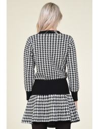 Houndstooth pullover