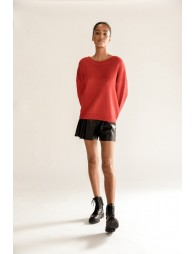 Wide knitted sweater