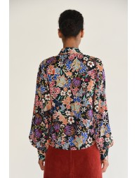 Floral shift, balloon sleeves
