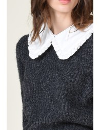 Pull maille , col claudine