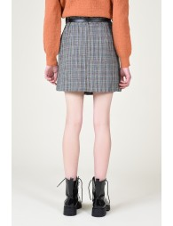 Mini skirt with belt and pouch