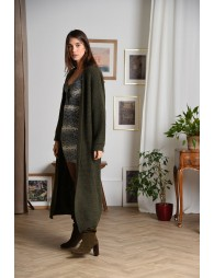Long open front cardigan