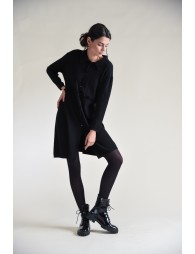 Knitted cardigan coat