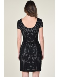 Sequined low back dress