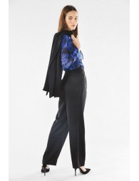 Satin pants with clips